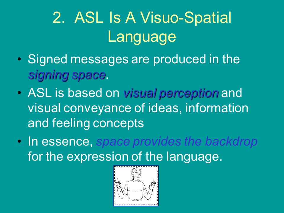 2. ASL Is A Visuo-Spatial Language