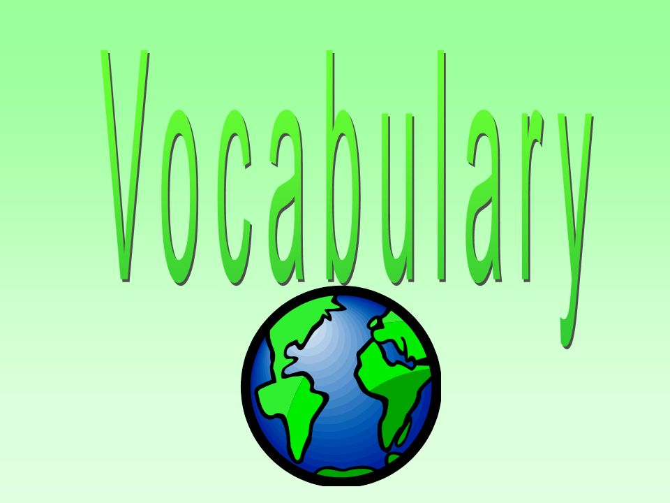 Vocabulary Latin