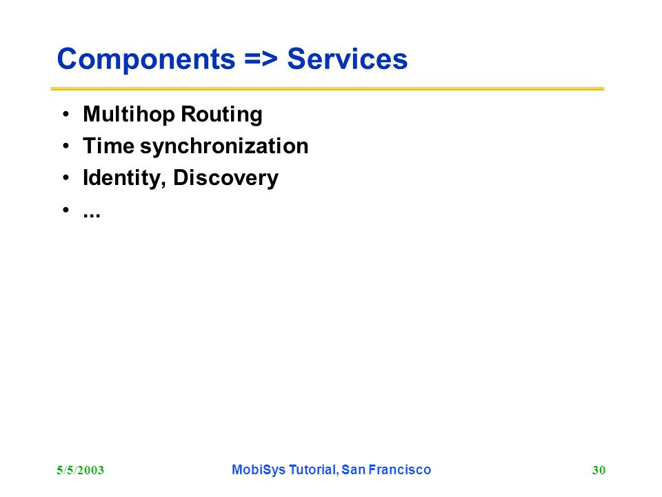 Components => Services