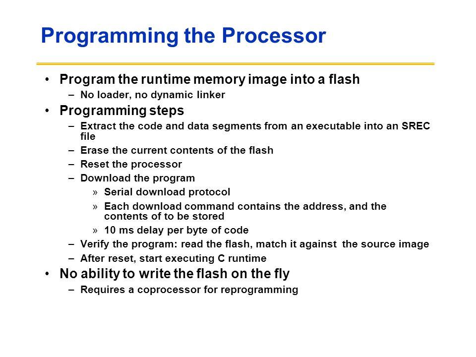 Programming the Processor