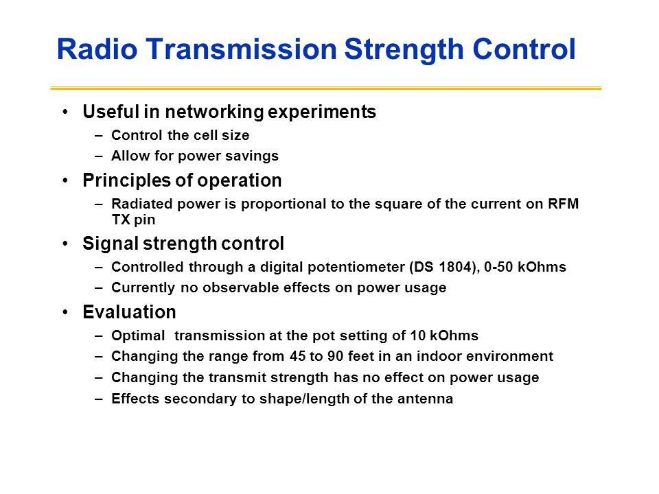 Radio Transmission Strength Control