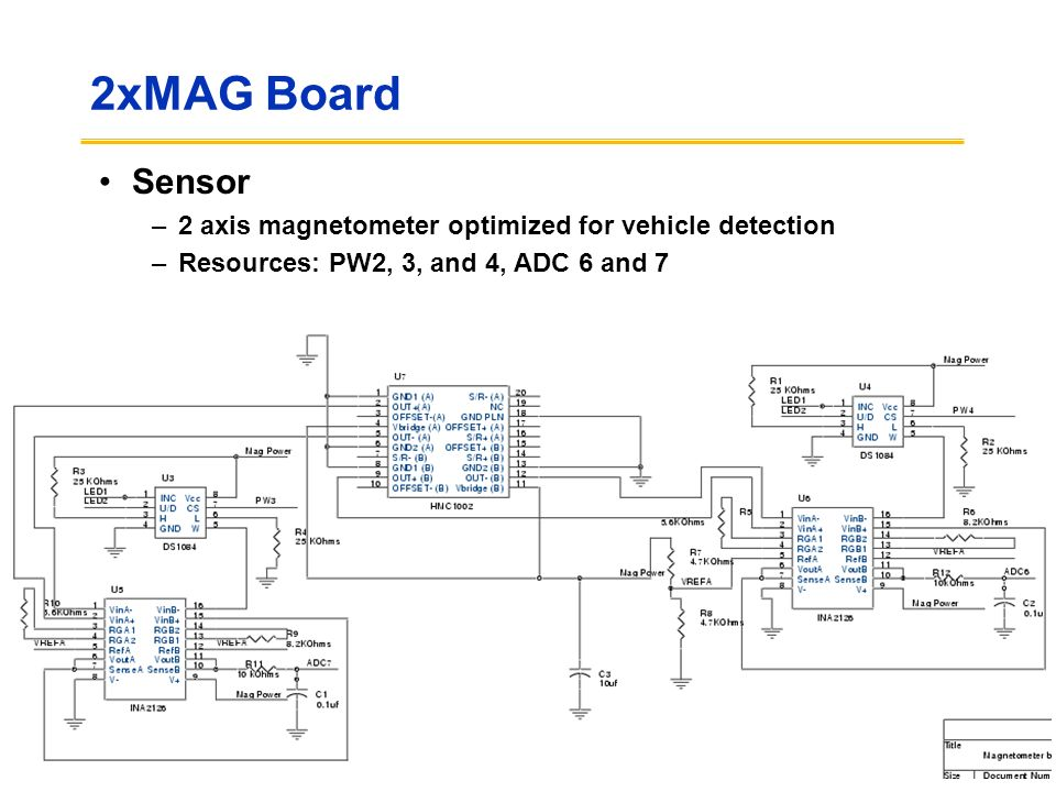2xMAG Board Sensor 2 axis magnetometer optimized for vehicle detection