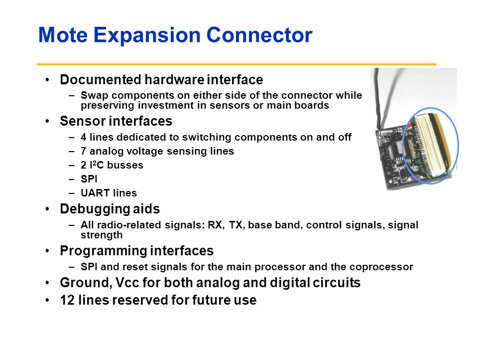 Mote Expansion Connector