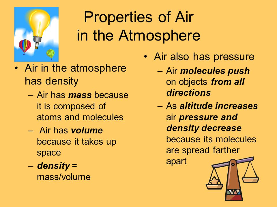 Properties of Air in the Atmosphere