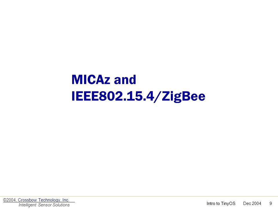 MICAz and IEEE802.15.4/ZigBee