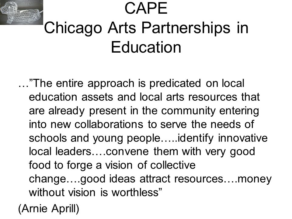 CAPE Chicago Arts Partnerships in Education
