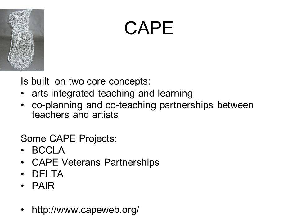 CAPE Is built on two core concepts: