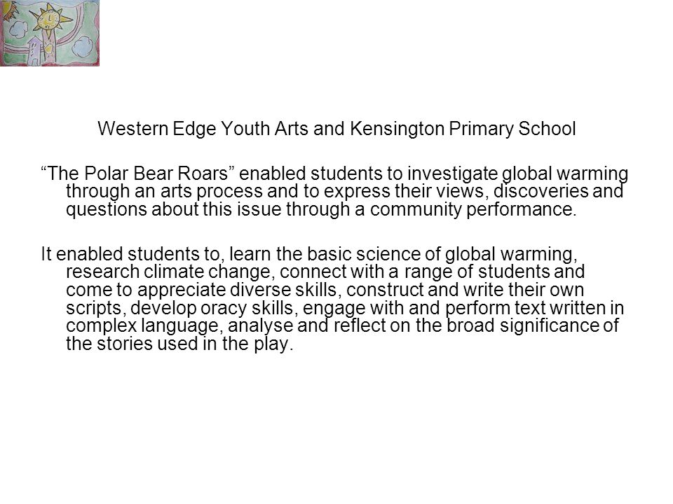 Western Edge Youth Arts and Kensington Primary School