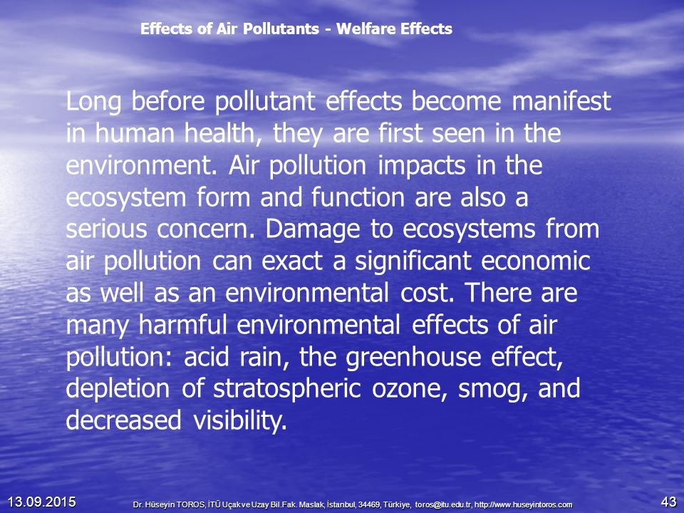 the negative effects of air pollution on humans and environment Technology has bad effects on environment these negative effects, continued of environmental from human activities environmental pollution.