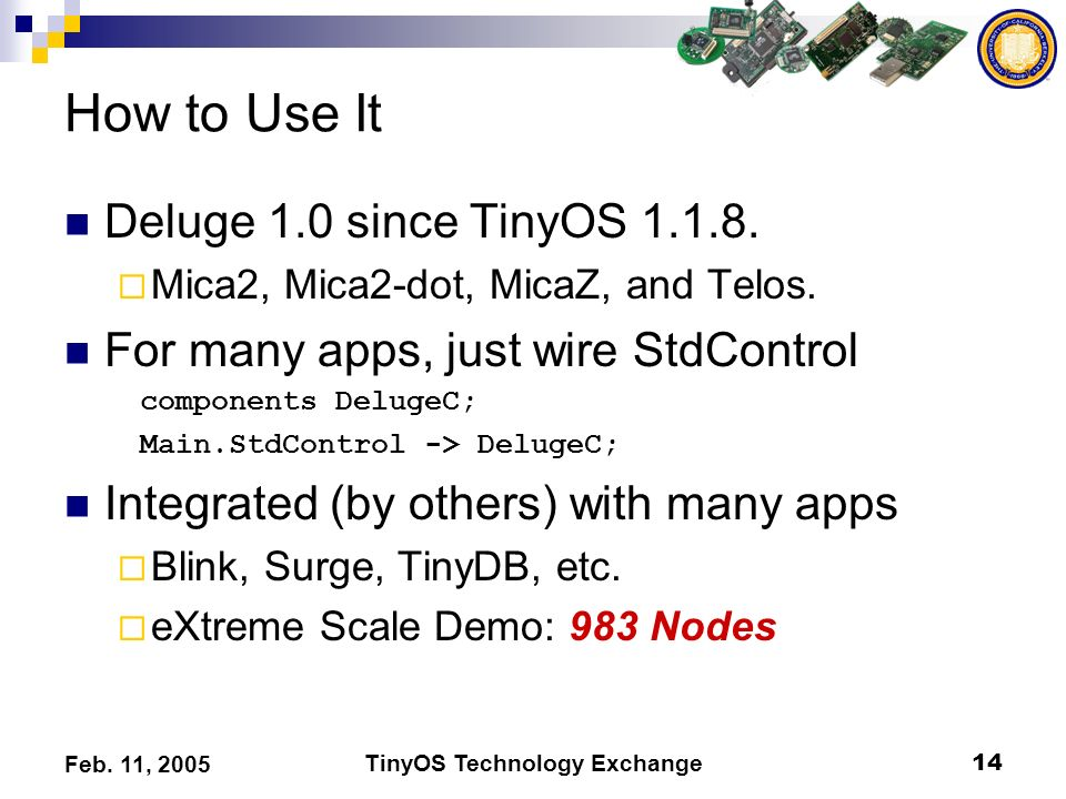 TinyOS Technology Exchange