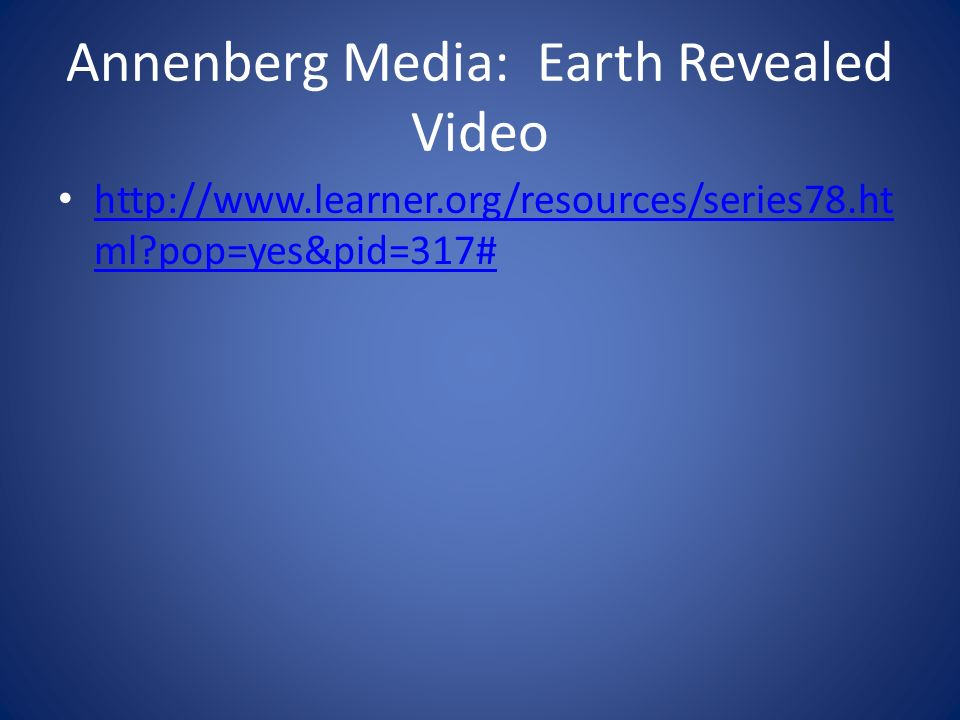 Annenberg Media: Earth Revealed Video