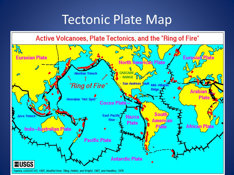 Tectonic Plate Map
