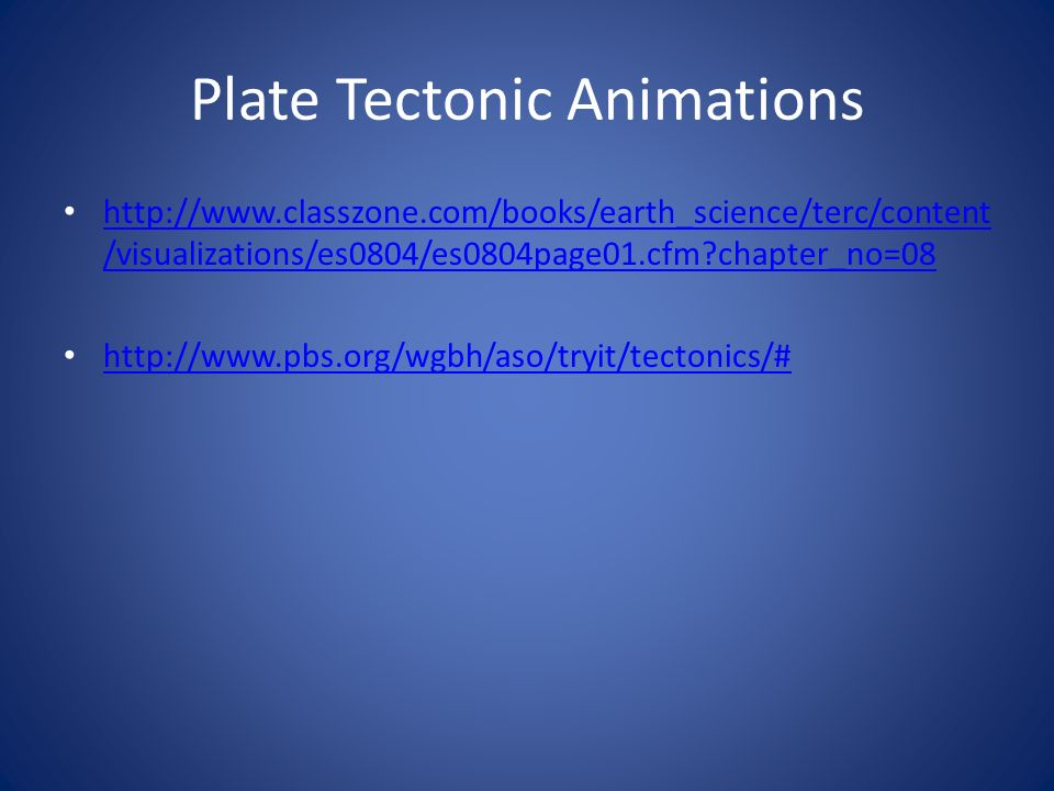 Plate Tectonic Animations