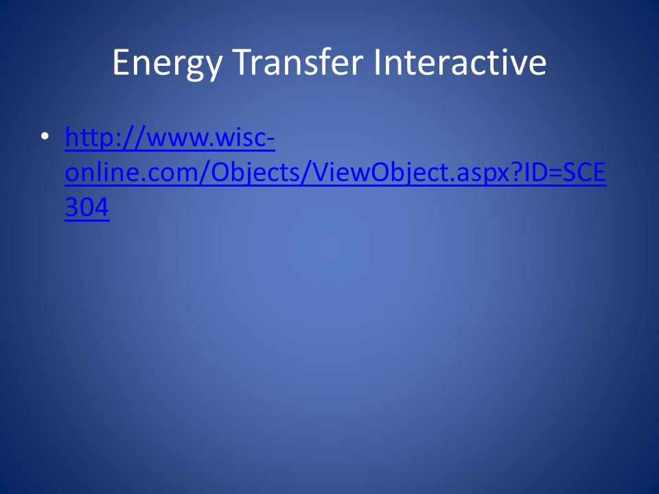 Energy Transfer Interactive