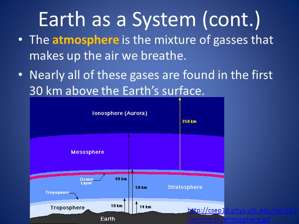 Earth as a System (cont.)