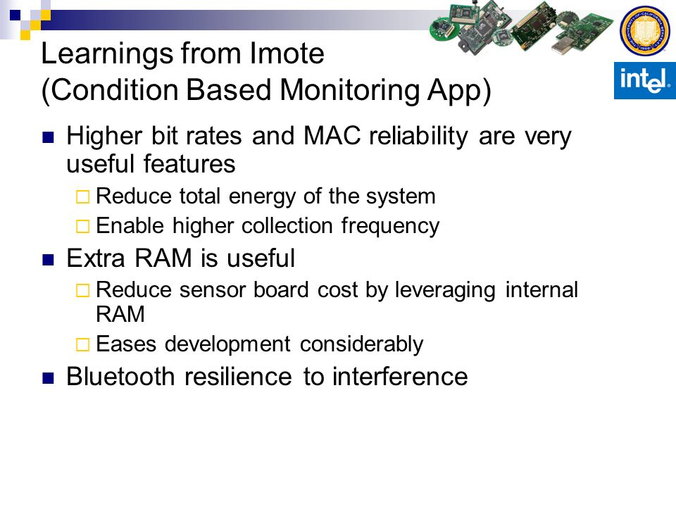 Learnings from Imote (Condition Based Monitoring App)
