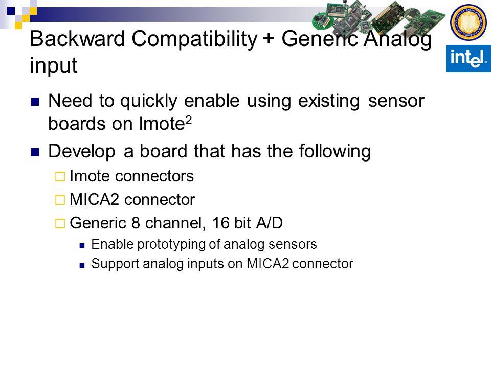 Backward Compatibility + Generic Analog input
