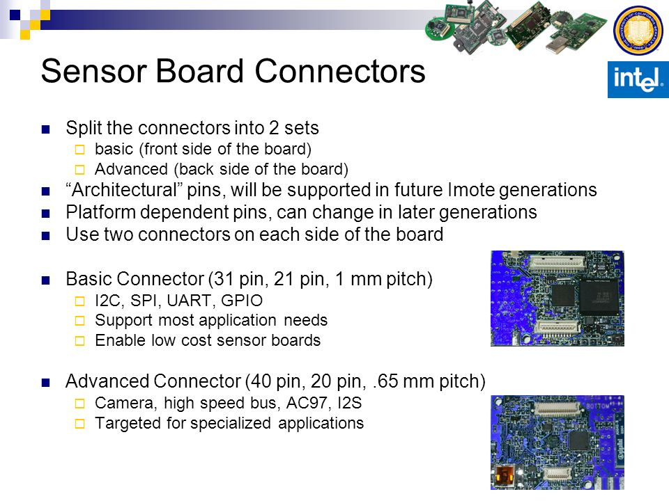 Sensor Board Connectors