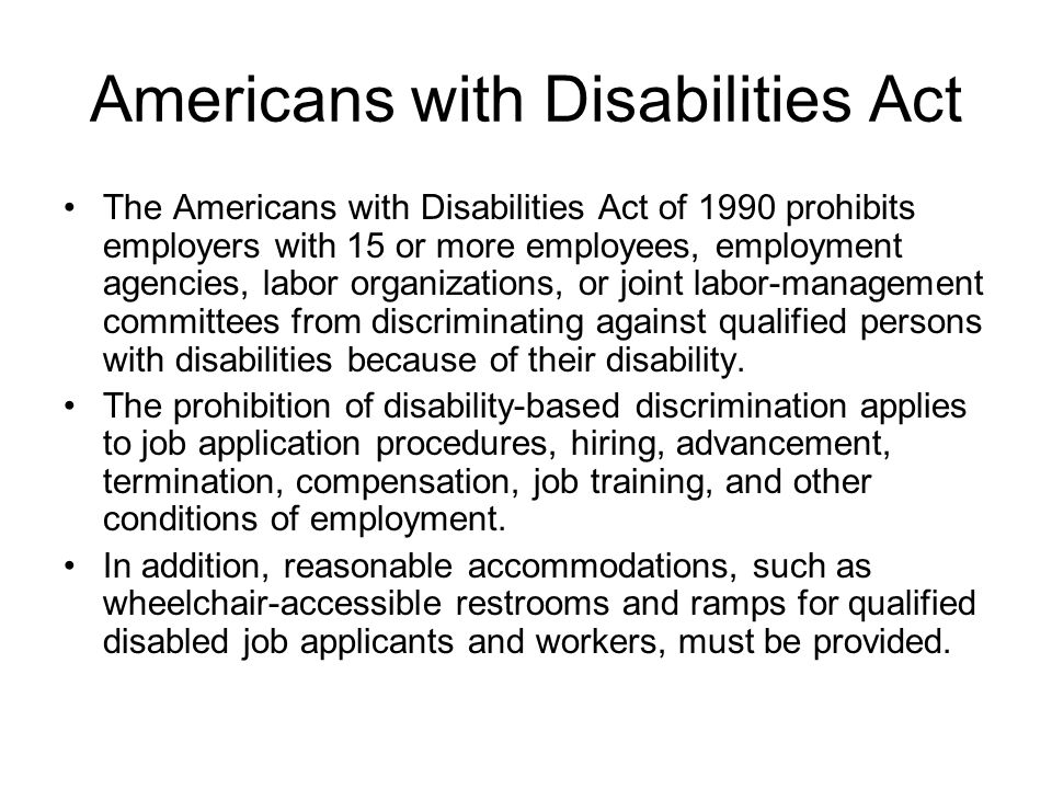 job accommodations for disabled applicants and employees