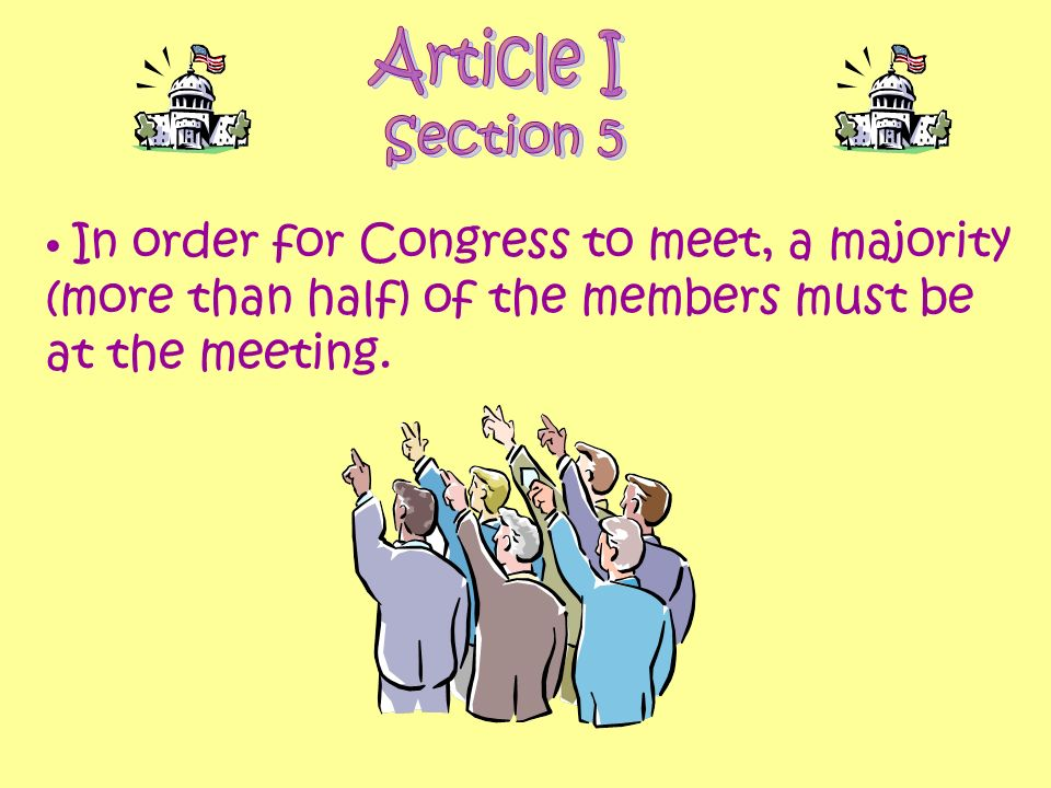 Article I Section 5.