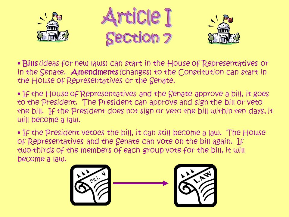 Article I Section 7.