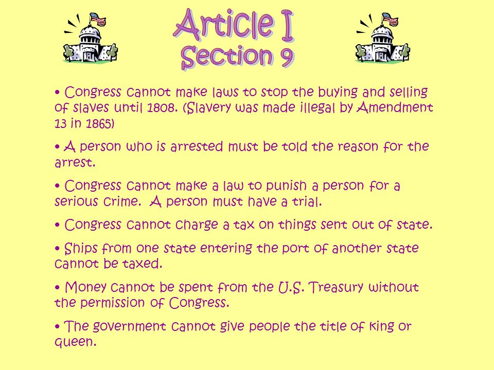 Article I Section 9.