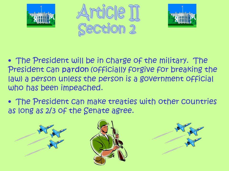 Article II Section 2.