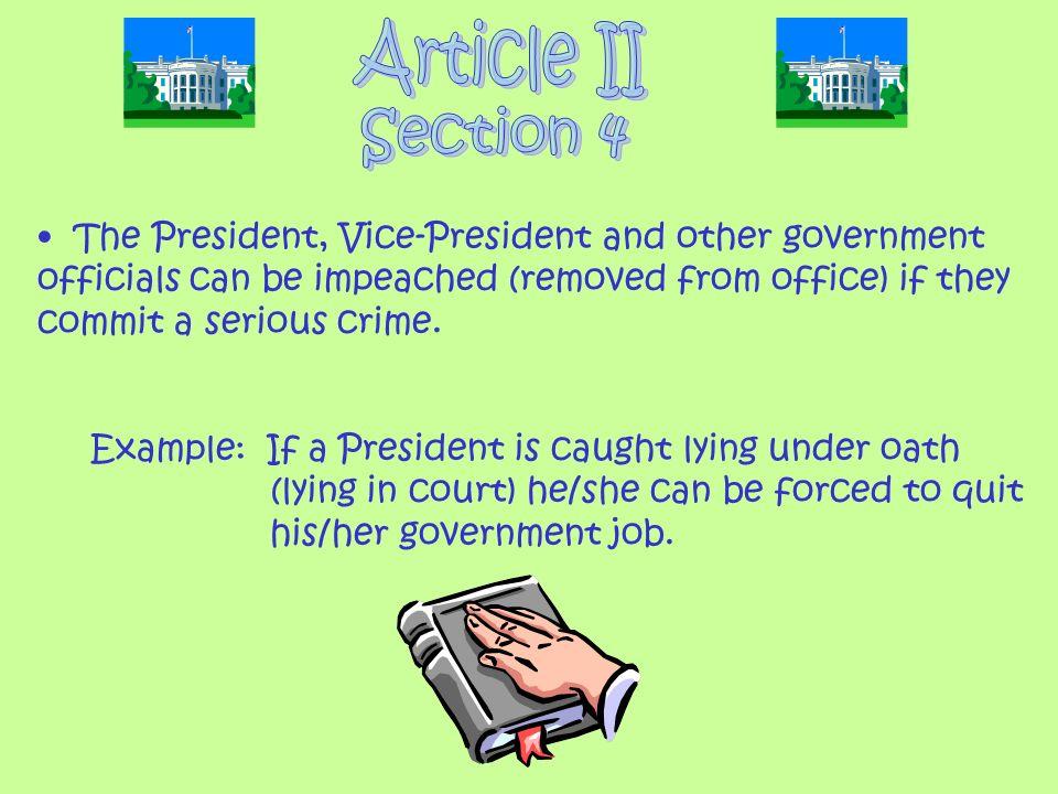 Article II Section 4.