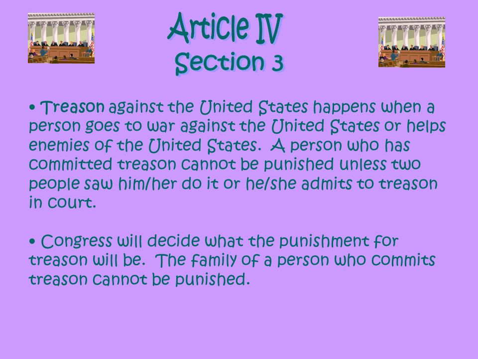Article IV Section 3.