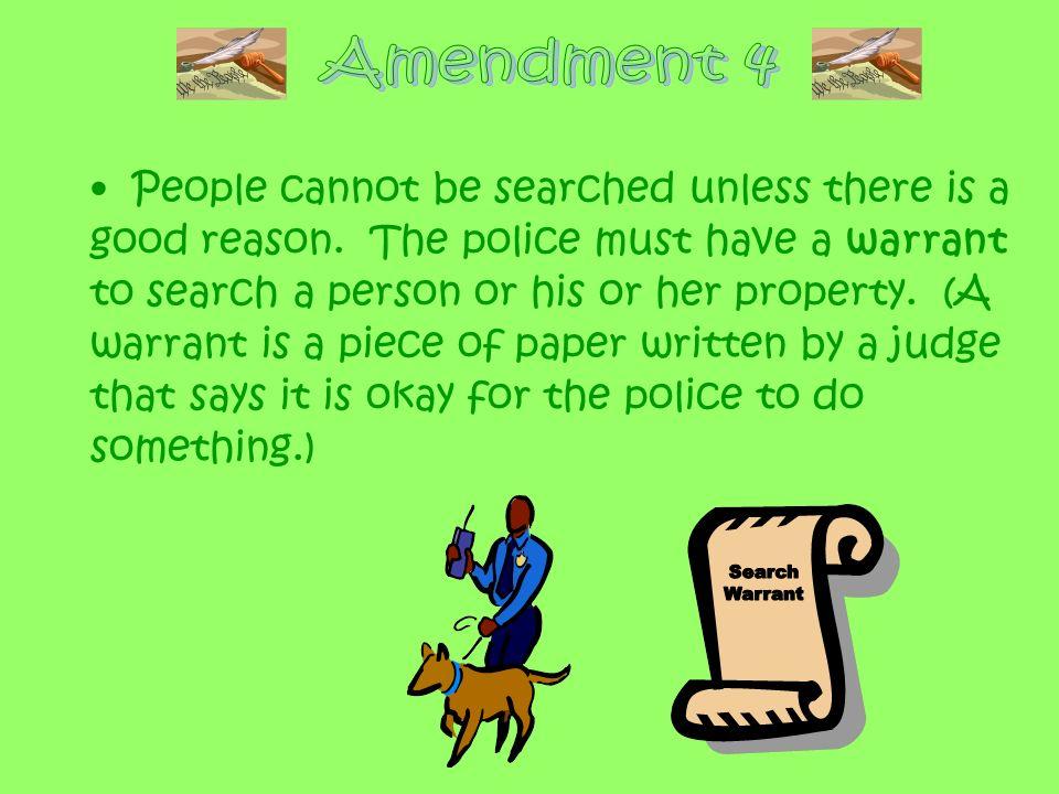 Amendment 4 Search Warrant
