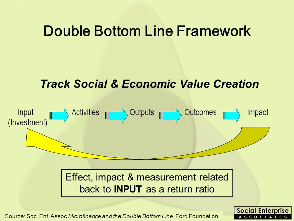 Double Bottom Line Framework
