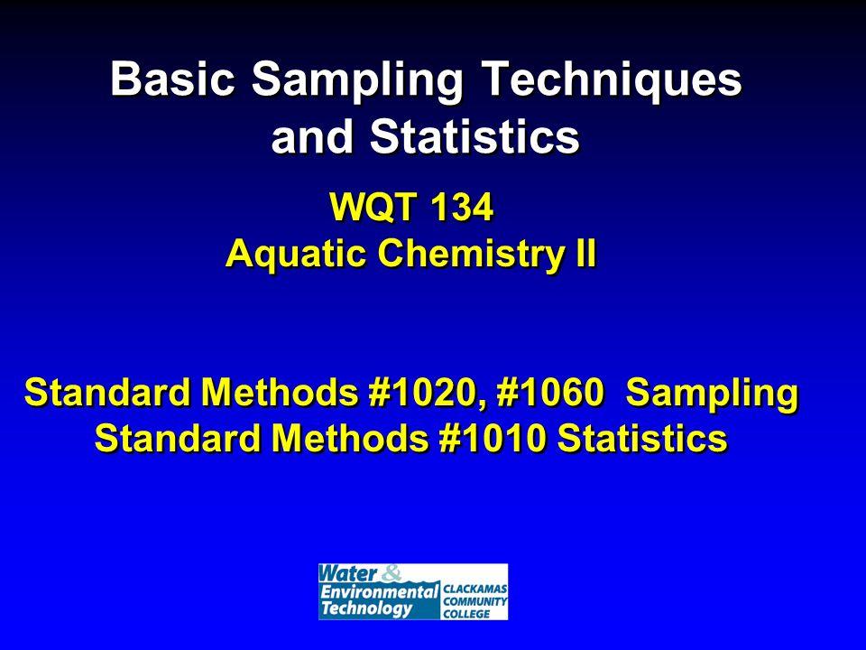 Basic Sampling Techniques and Statistics