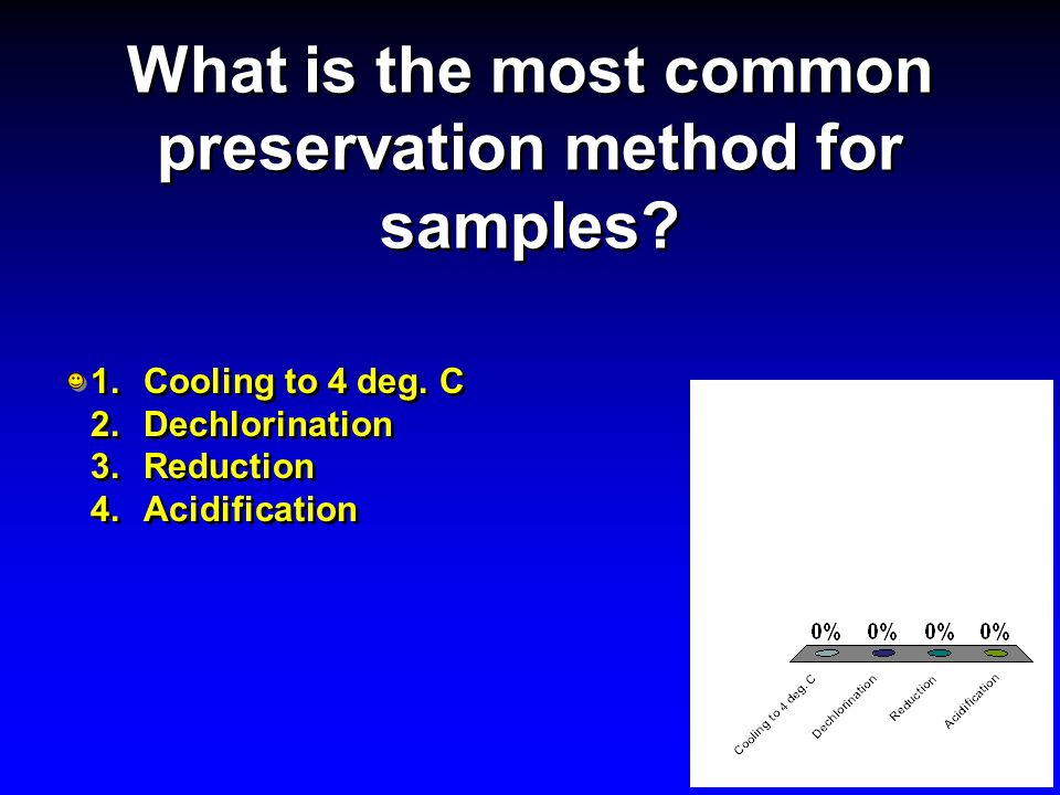 What is the most common preservation method for samples