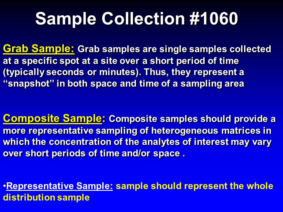 Sample Collection #1060
