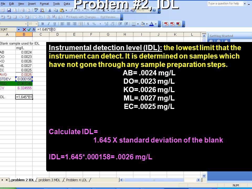Problem #2, IDL