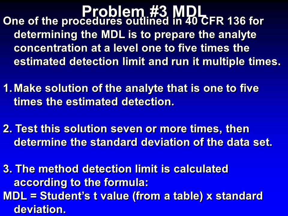 Problem #3 MDL