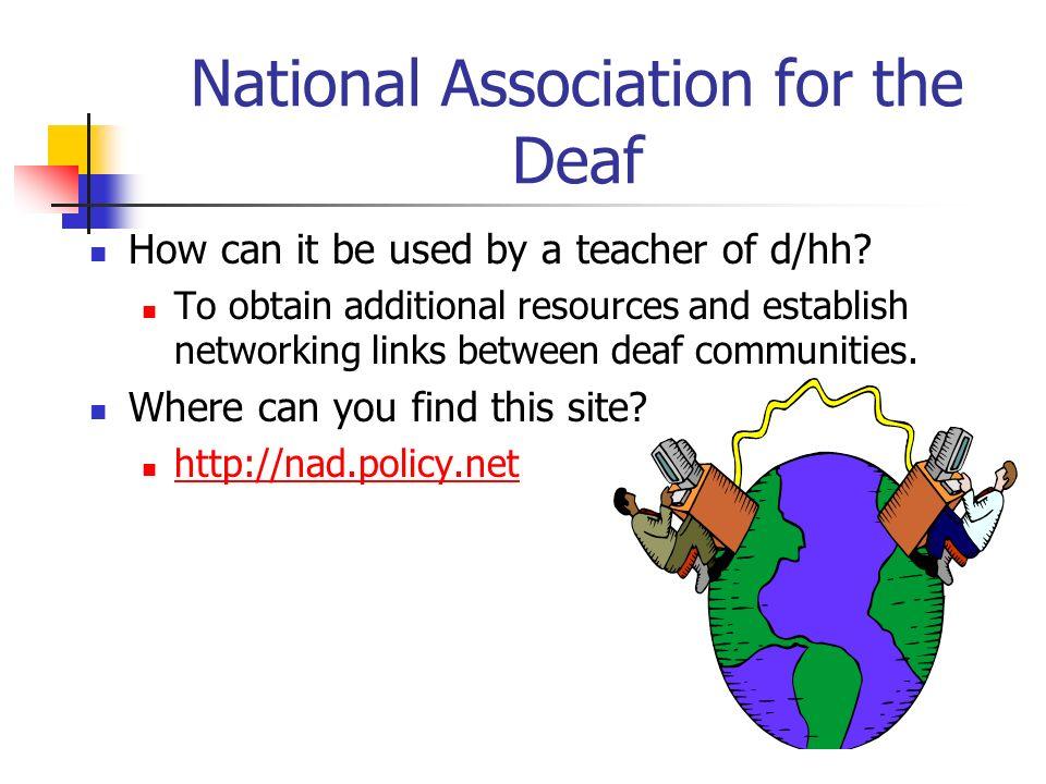 National Association for the Deaf