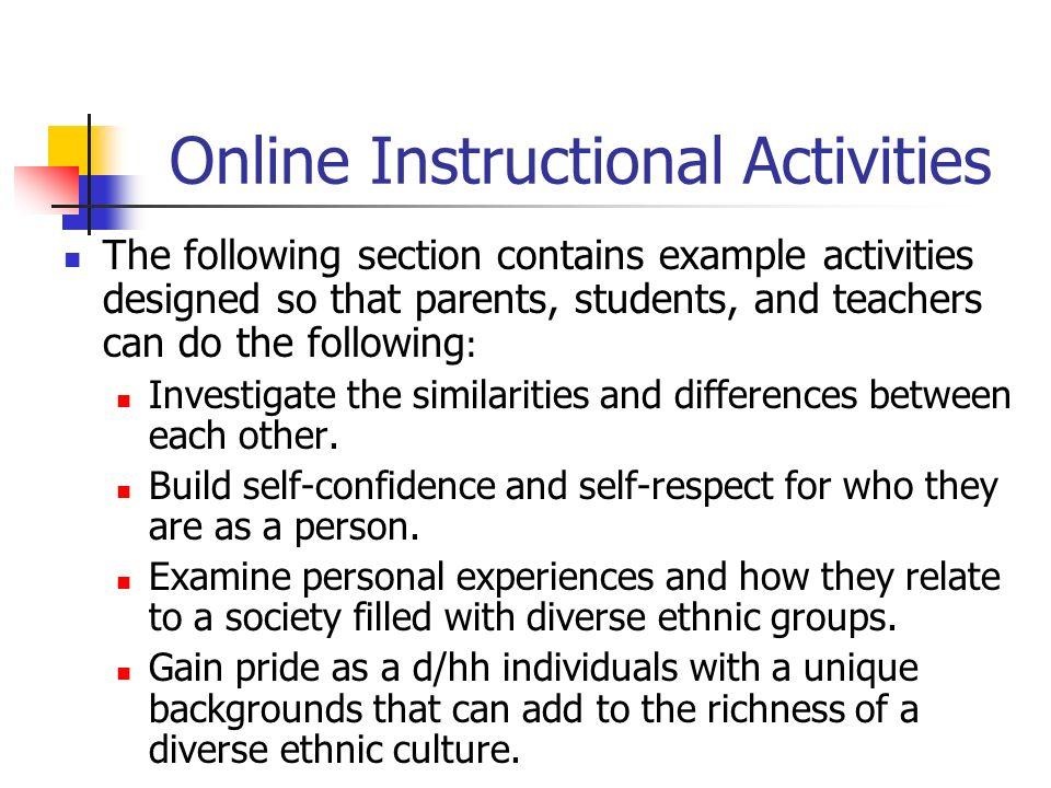 Online Instructional Activities