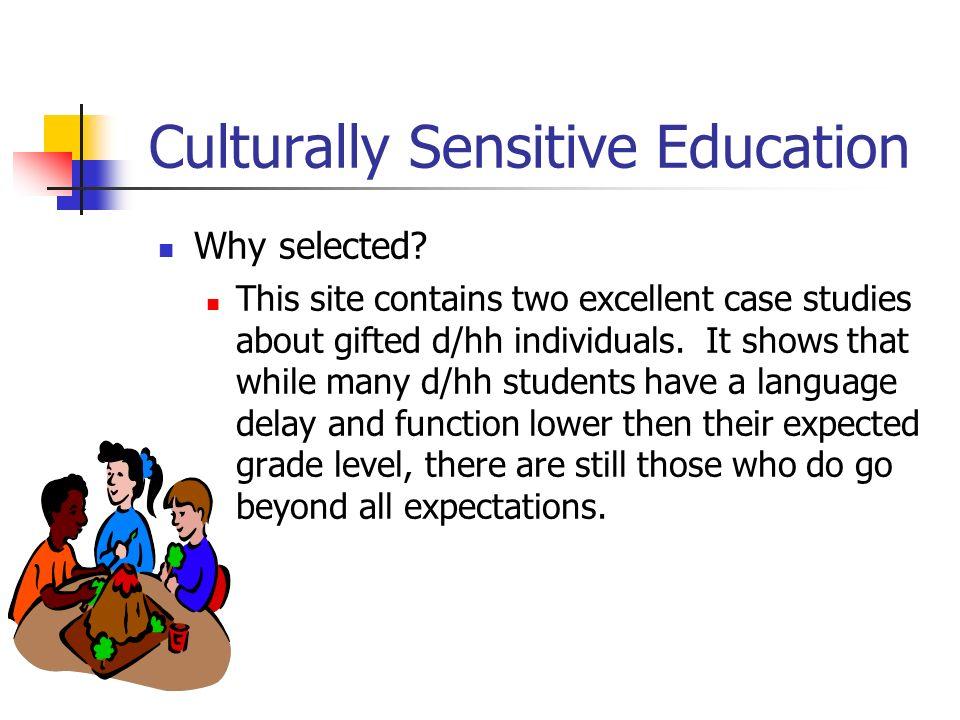 Culturally Sensitive Education