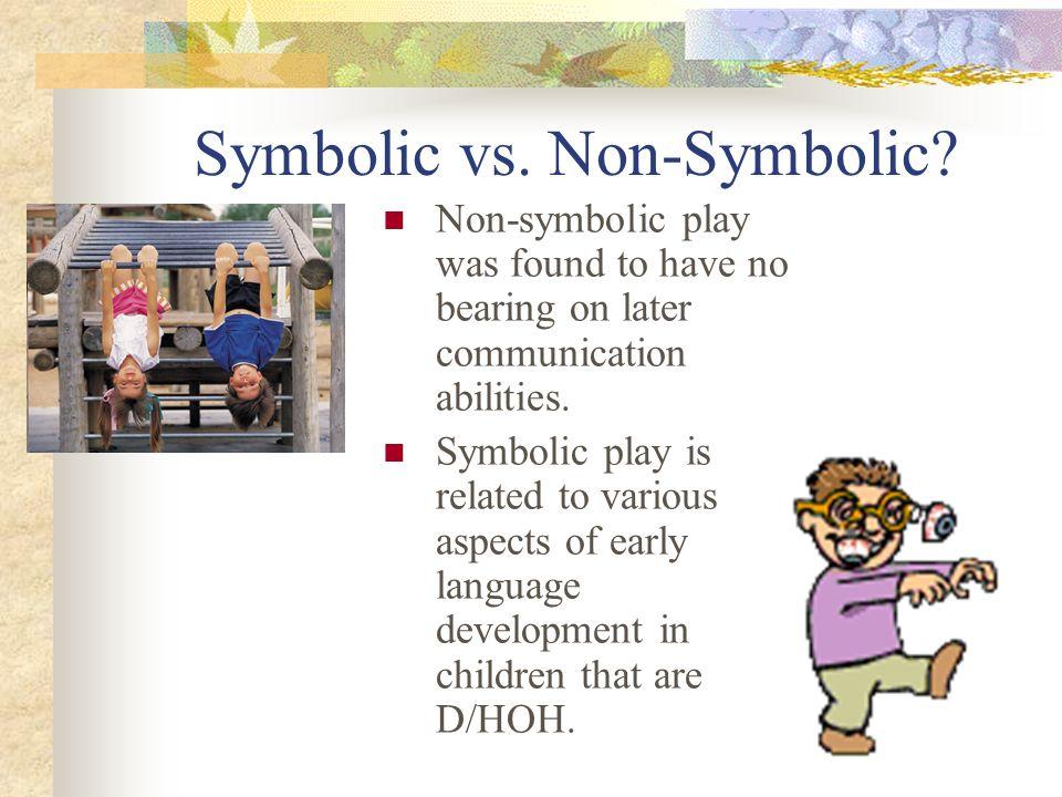 Symbolic vs. Non-Symbolic