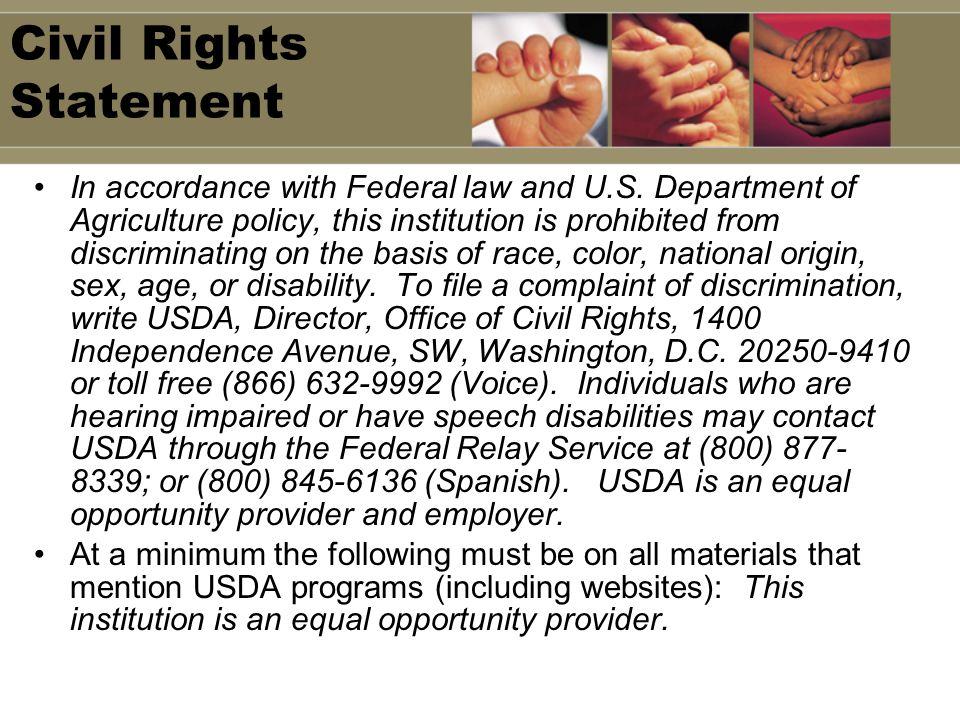 Civil Rights Statement