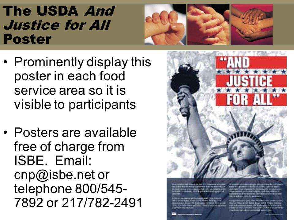 The USDA And Justice for All Poster