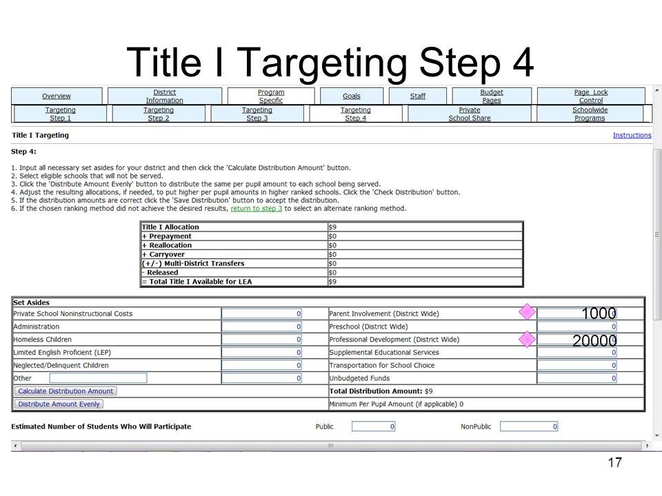 Title I Targeting Step 4 1000 20000