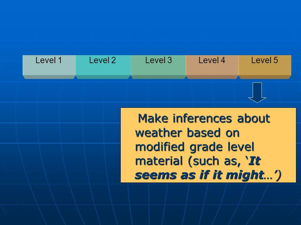 Level 1Level 2. Level 3. Level 4. Level 5.