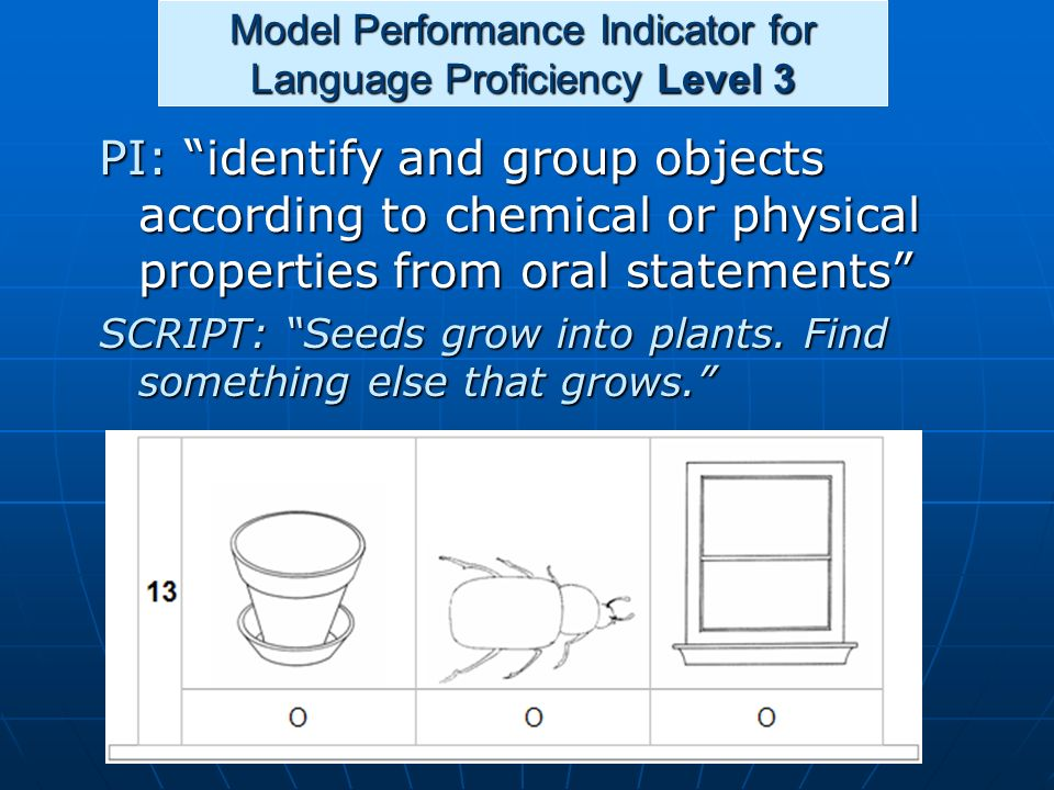 Model Performance Indicator for Language Proficiency Level 3