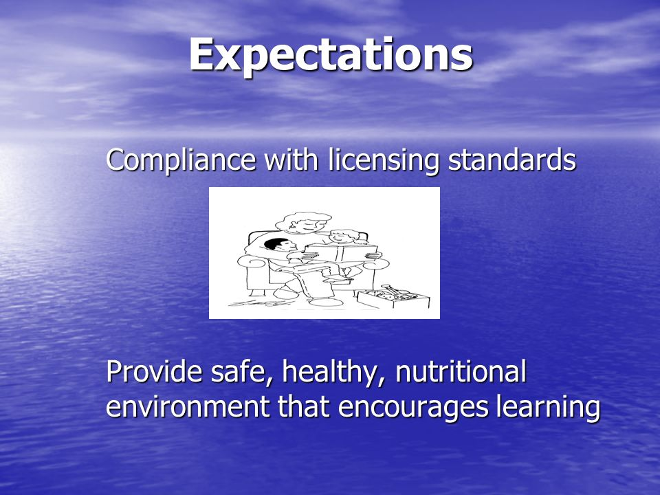 Expectations Compliance with licensing standards