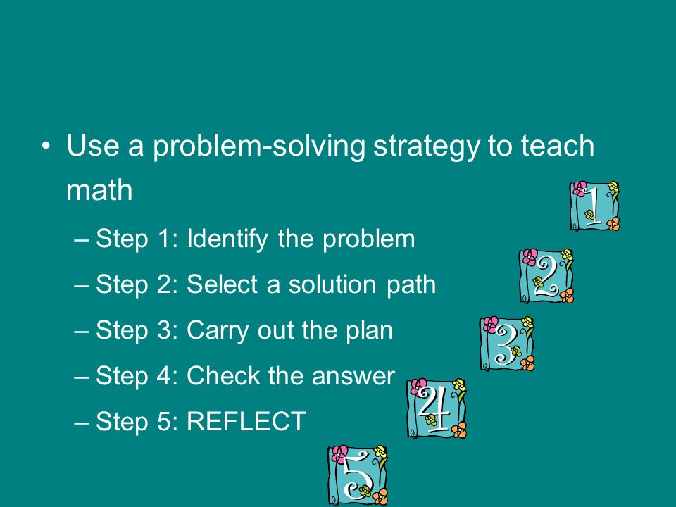 Use a problem-solving strategy to teach math