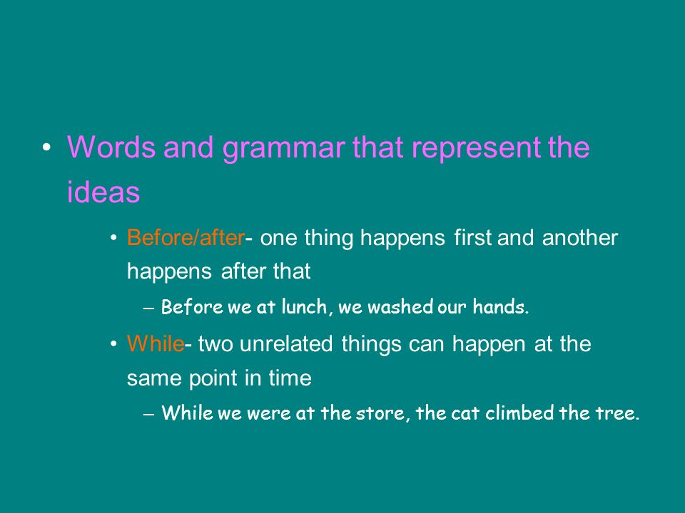 Words and grammar that represent the ideas