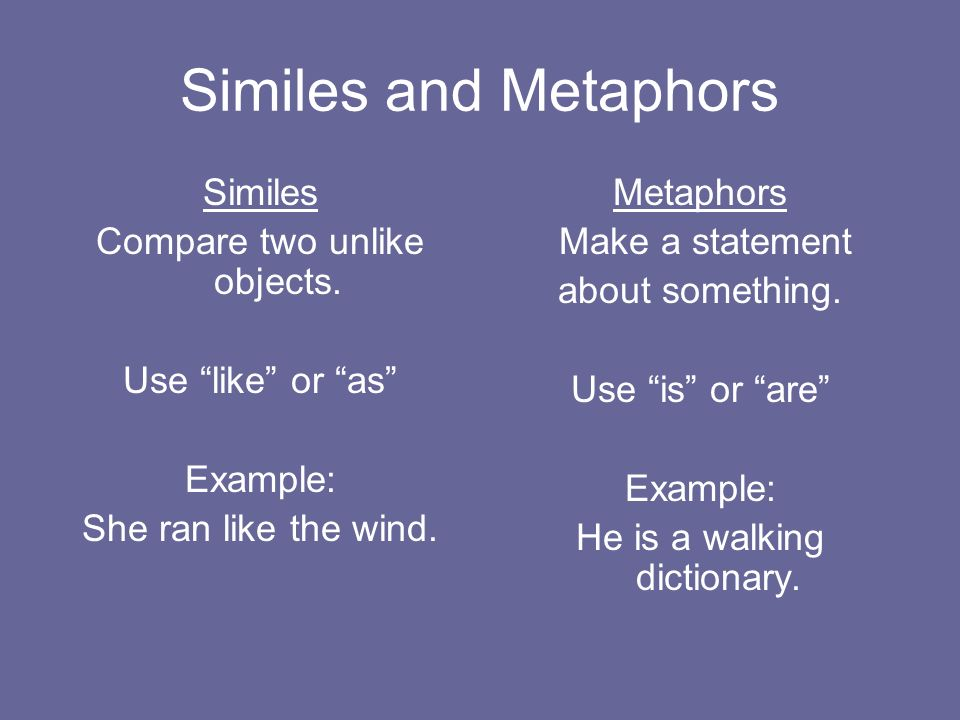 Similes And Metaphors They Paint Word Pictures Ppt Video Online