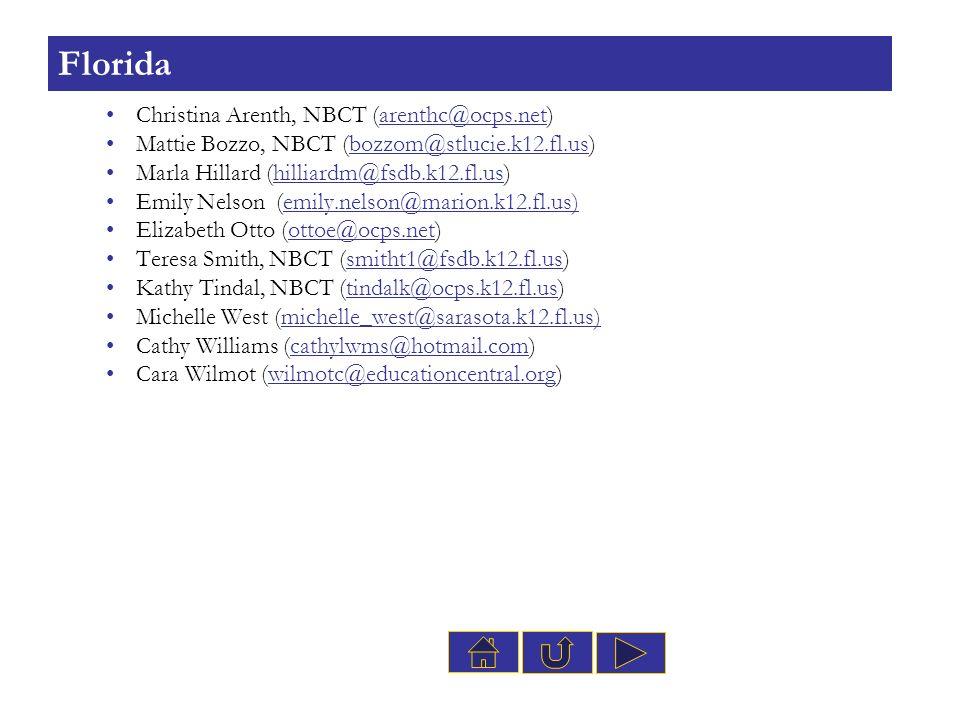 Florida Christina Arenth, NBCT (arenthc@ocps.net)